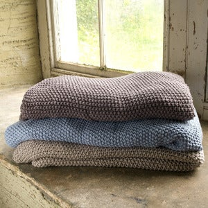 Image of Moss Stitch Throw