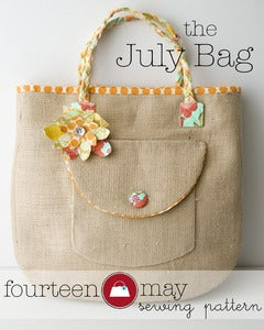 Image of The July Bag,  Tote / Beach Bag sewing pattern PDF