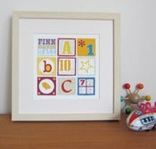 Image of Personalised ABC Birth Date Print