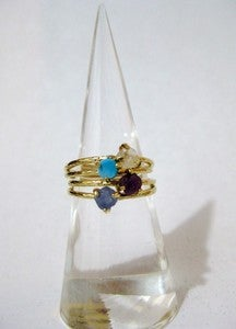 Image of Petite Gem Rings