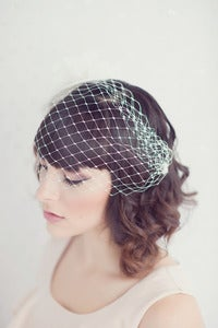 Image of Vivian - Bandeau french netting veil