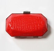 Image of Croc Box Clutch (Citrus)