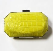 Image of Croc Box Clutch (Chartreuse)