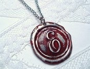 Image of Blood Red Wax Seal Pendant - By Ritzy Misfit
