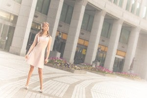 Image of Choker Dress - Pink and Cream Lace