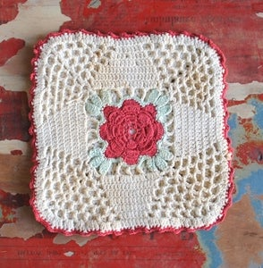 Image of La Vie en Rose Crocheted Doily