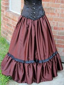 Image of Evening Stroll Victorian Steampunk Skirt