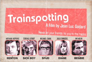 Image of &quot;Trainspotting&quot; - a Jean Luc Godard film