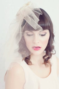 Image of Golden Bliss couture blusher veil