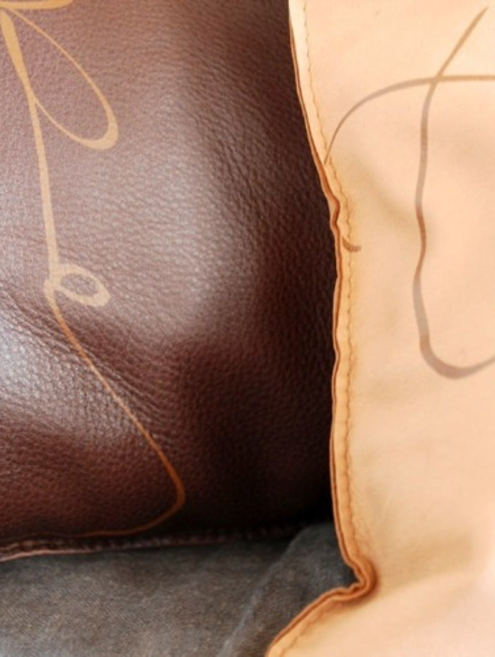 "Image of Swedish Leather Pillow - ""Today"""