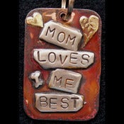 Image of Mom Loves Me Best Dog ID Tag on UncommonPaws.com