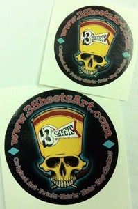 Image of 3S 1-SHOT SKULL STICKERS (2)