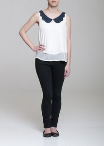 Image of Ophelia Scalloped Collar Blouse
