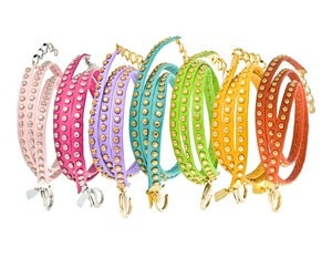 Image of Anne Leather Bracelet-Spring Brights