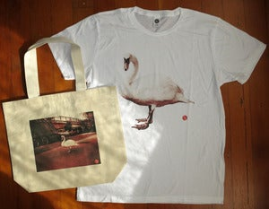 Image of &quot;One Swan&quot; Shirt And Tote Bag Set from Untitled Japan Project
