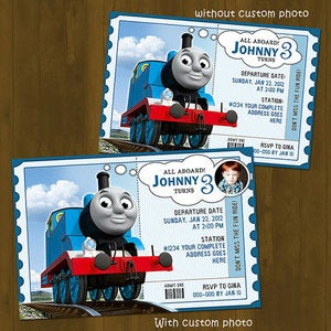 Image of Thomas Train Birthday Invitation (Thomas and Friends)