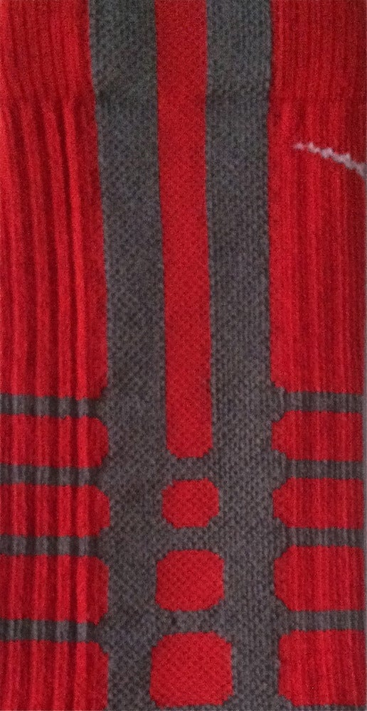 Image of Nike Elite Platinum Red Crew Socks