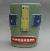 Image of Green Robot Drinking Cup
