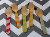 Image of Striped Wooden Spoon