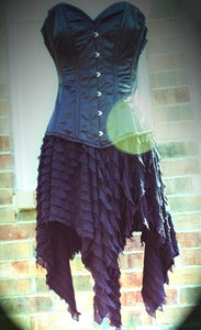 Image of VooDoo Dolly Skirt Black or Black/White Stripe