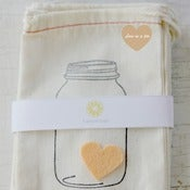 Image of Heart in a Jar Cloth Bags