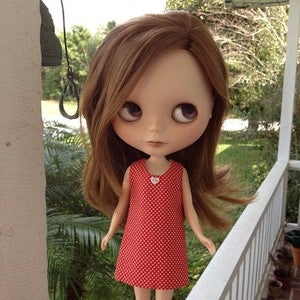 Image of Blythe: Red A line dress