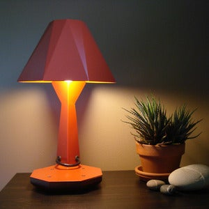 Image of Helen Lamp in red
