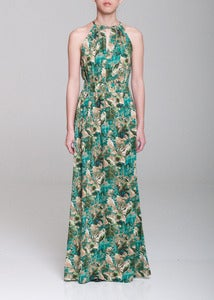 Image of Tropical Leaves Maxi Dress