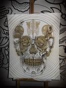 Image of SKULL POSTER GOLD by TTDMRT