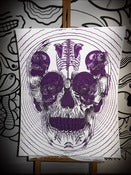 Image of SKULL POSTER PURPLE by TTDRMRT