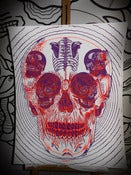 Image of SKULL POSTER PURPLE-FLUO by TTDMRT
