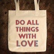 Image of Do All Things With Love - Bull Denim Tote Bag