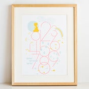 Image of Numbers Print - Girl