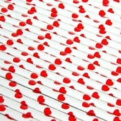 Image of Red Heart Paper Straws