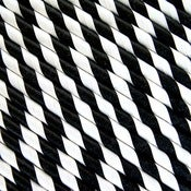 Image of Black Striped Paper Straws