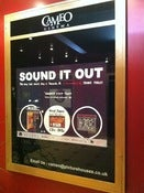Image of SOUND IT OUT poster by Amy Blackwell (cinema quad size) glossy hi fi