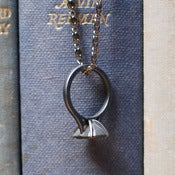 Image of Forever Yours: Ring Pendant - Gunmetal