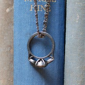 Image of Diamond Anniversary: Ring Pendant - Gunmetal