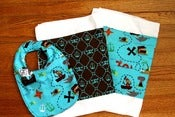 Image of Me Sew Messy 2 Burp Cloths and Bib Set
