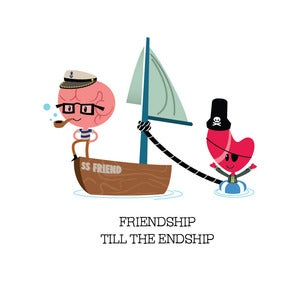 Image of Friendship: Friend Ship Card