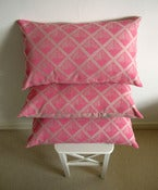 Image of Pink Wafer Screen-Printed Cushion