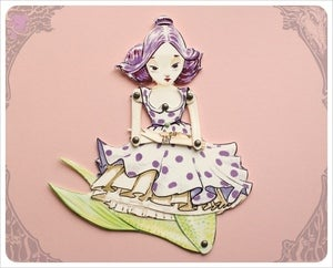 Image of Mermaid Paper Doll handmade by the Filigree