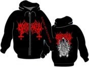 Image of MEMBRO GENITALI BEFURCATOR Satanic Brutality Mass Zip-Hoodie
