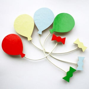 Image of Balloon Brooch - Summer Set - 4 Colours!