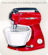 Image of JUMBO Red Vintage Mixer wood diecut