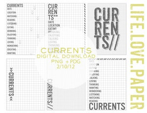 Image of Currents Journaling Cards Digital Download