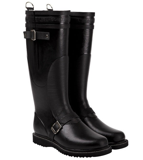Image of Ilse Jacobsen Biker Boots, Tall - Black