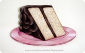 Image of JUMBO slice of cake wood diecut