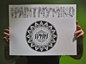 Image of IPaintMyMind Mandala Logo + Text Print - Limited Edition of 25