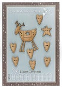 Image of I Love Christmas Button